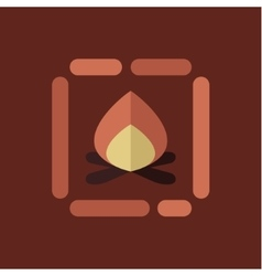 Campfire icon flat style vector image vector image