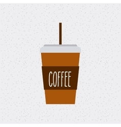 coffee glass isolated icon vector image