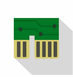 Computer chipset icon flat style vector