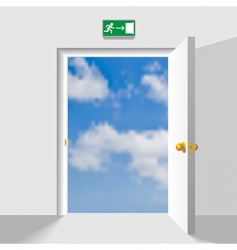 door to the sky vector image vector image