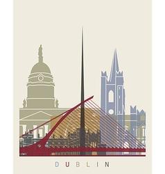 Dublin skyline poster vector
