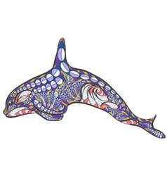 Ethnic killer whale vector