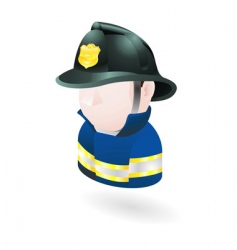fireman illustration vector image vector image