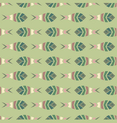 Flock of fish mosaic seamless pattern vector
