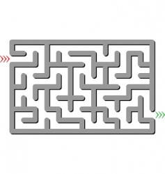 gray labyrinth vector image
