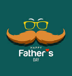 happy father day brown mustache design vector image