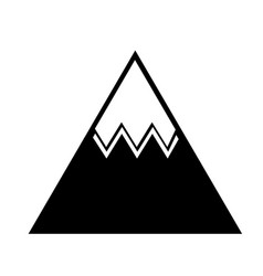 mountain big isolated icon vector image vector image