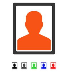 Patient portrait flat icon vector