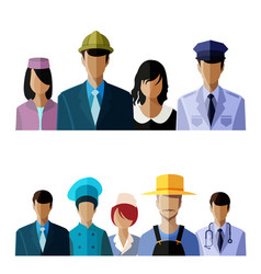 people avatar set vector image vector image