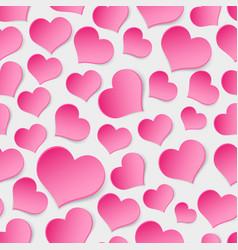 Pink valentine hearths symbol seamless pattern vector