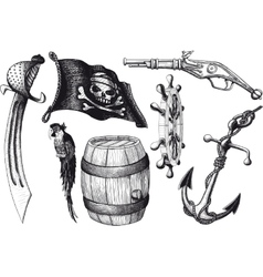 Pirate set attributes vector
