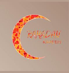 Ramadan greetings postcard with moon vector