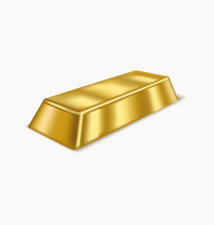 realistic gold bar or bullion vector image