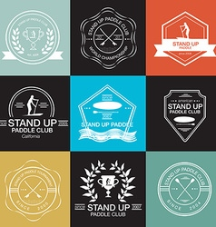 Set of different logotype templates for stand up vector