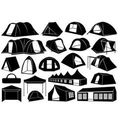 Set of tents vector image vector image