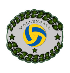 the theme volleyball vector image vector image