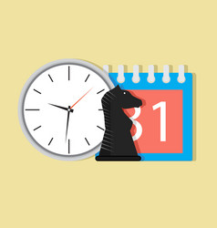 time and tactic orgnization vector image vector image