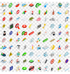 100 pointer icons set isometric 3d style vector