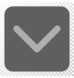 Direction down rounded square button vector
