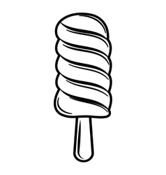 Ice lolly icon outline style vector