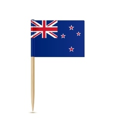 Flag of new zealand toothpick on white background vector