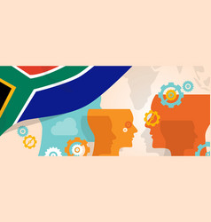 South africa concept of thinking growing vector