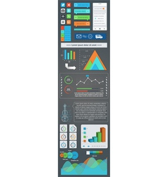 A set of user interface components and infographic vector