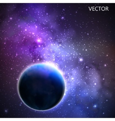 Abstract background with night sky and stars of vector