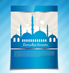 Stylish ramadan template vector