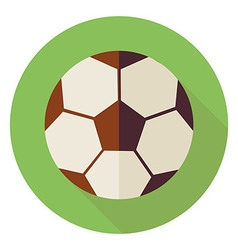 Flat sports ball soccer football circle icon with vector
