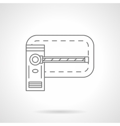 Barrier flat line icon vector