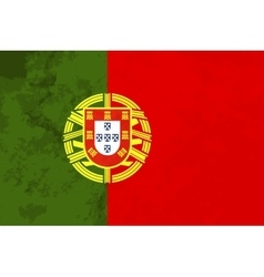 True proportions portugal flag with texture vector