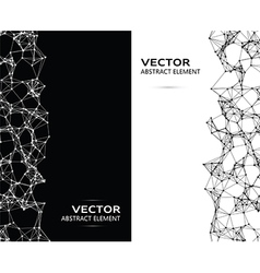 Abstract black and white particles vector