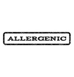 allergenic watermark stamp vector image vector image