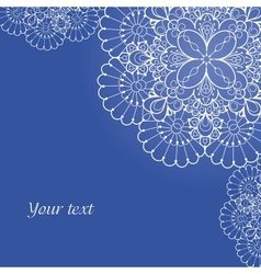 Background with lace ornament and space for your vector image vector image