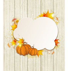 Background with maple leaves and pumpkin vector image vector image