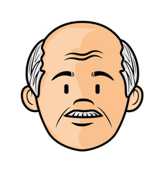 Cartoon old man icon vector