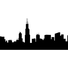Chicago Morning Skyline vector image