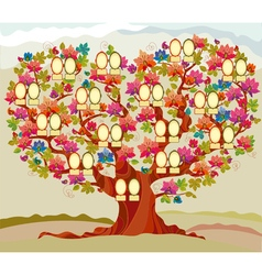 Concept folk style family tree vector