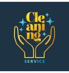 Corporate identity for company cleaning service vector