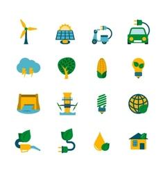 Eco Energy Icons Set vector image vector image