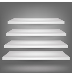 Emrty shelves vector