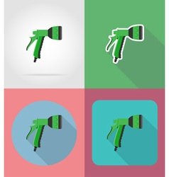 garden tools flat icons 08 vector image vector image