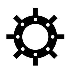 Gear machine settings icon vector