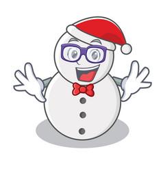 geek snowman character cartoon style vector image vector image