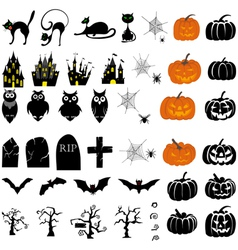 Halloween set big vector image