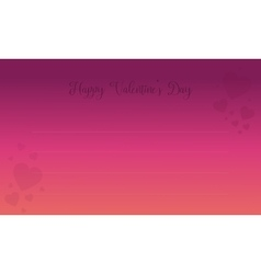 Happy valentine day card with love vector image