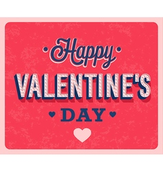 Happy Valentines Day vintage greeting card vector image vector image