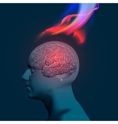 Headache with Flames vector image