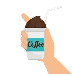 Iced coffee drink vector